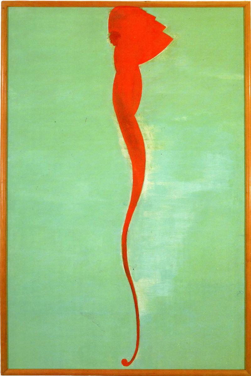 <i>Dante</i>, 1990. Olio e tempera su tela, 176 x 117 cm