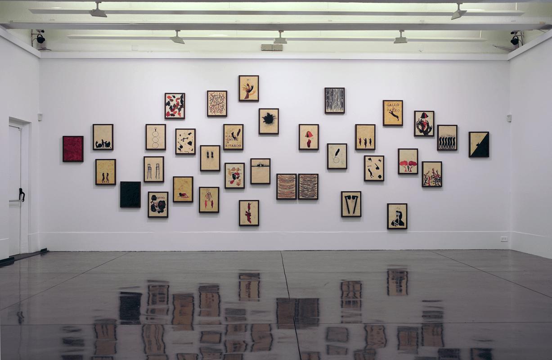 Memoria retrospettiva, 2007. Olio, tecnica mista e encausto su tavola. 34 elementi. Macro, Roma. Foto di Claudio Abate.