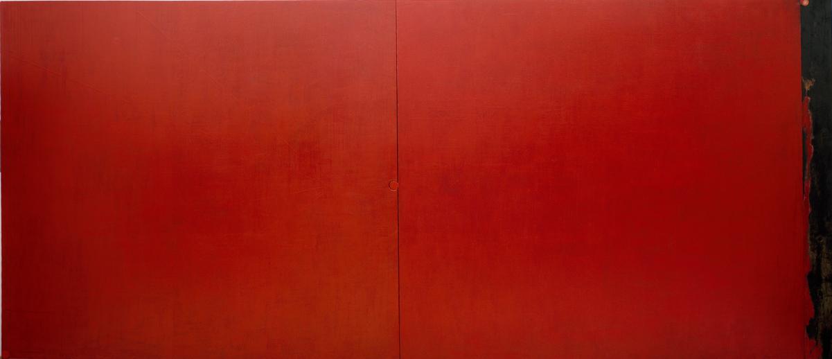 <i>Tu</i>, 1988. Olio, tempera ed encausto su tela e tavola, 243 x 560 cm. Foto di Giuseppe Schiavinotto