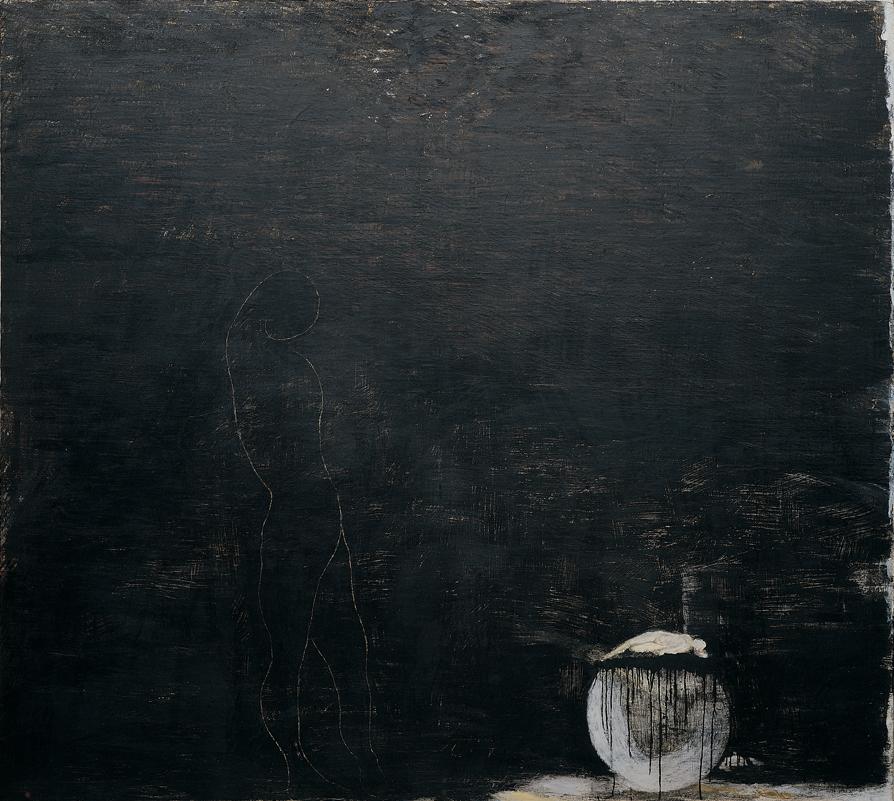 <i>Incantamento</i>, 1985. Olio e cera su tela, 243 x 270 cm