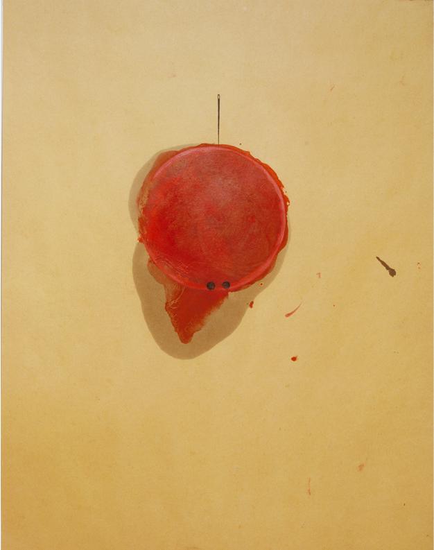<i>Agorà</i>, 1987. Olio e acquarello su carta, 47 x 36,5 cm