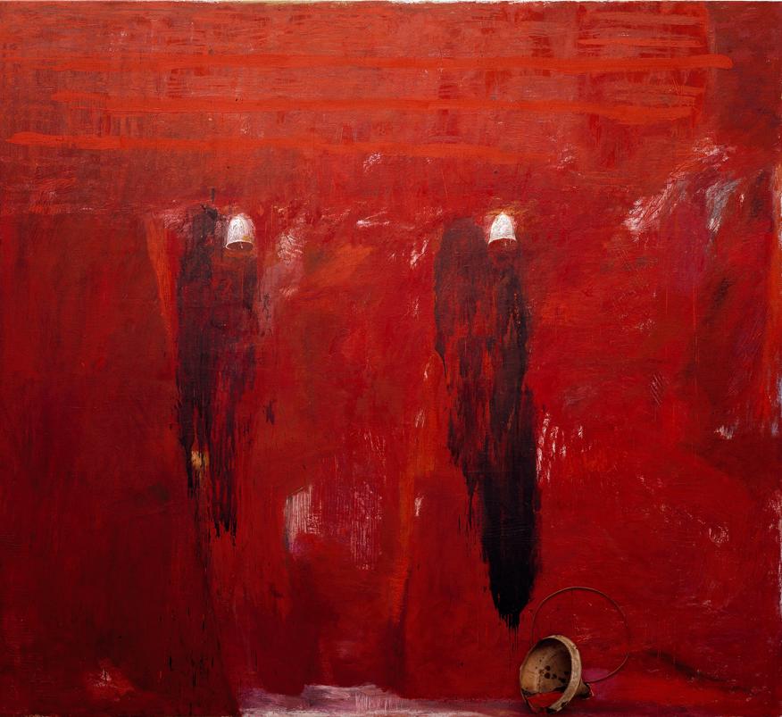 <i>Caino e Abele</i>, 1985. Olio su tela, 243 x 270 cm