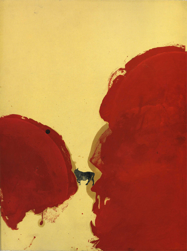 <i>Nabucco</i>, 1987. Olio e acquarello su carta, 47 x 36,5 cm