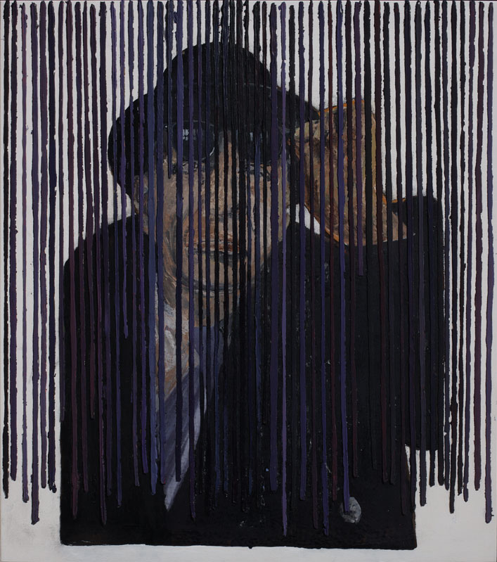 <i>Igor Stravinskij</i>, 2008. Olio e acrilico su tavola, 53 x 47 cm