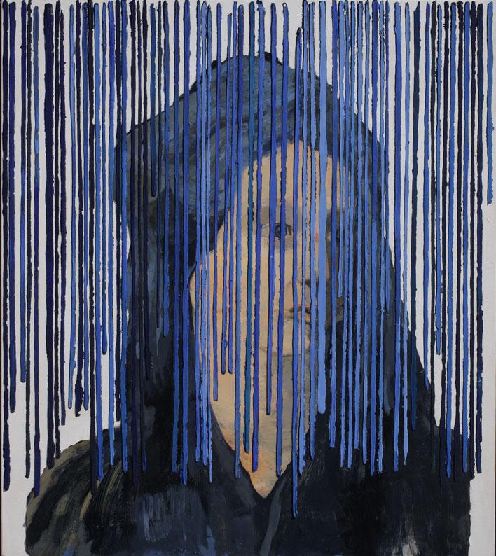 <i>Hildegard von Bingen</i>, 2008. Olio e acrilico su tavola, 53 x 47 cm