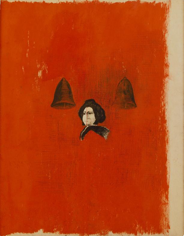<i>La Figlia</i>, 1986. Olio e carboncino su carta, 47 x 36,5 cm
