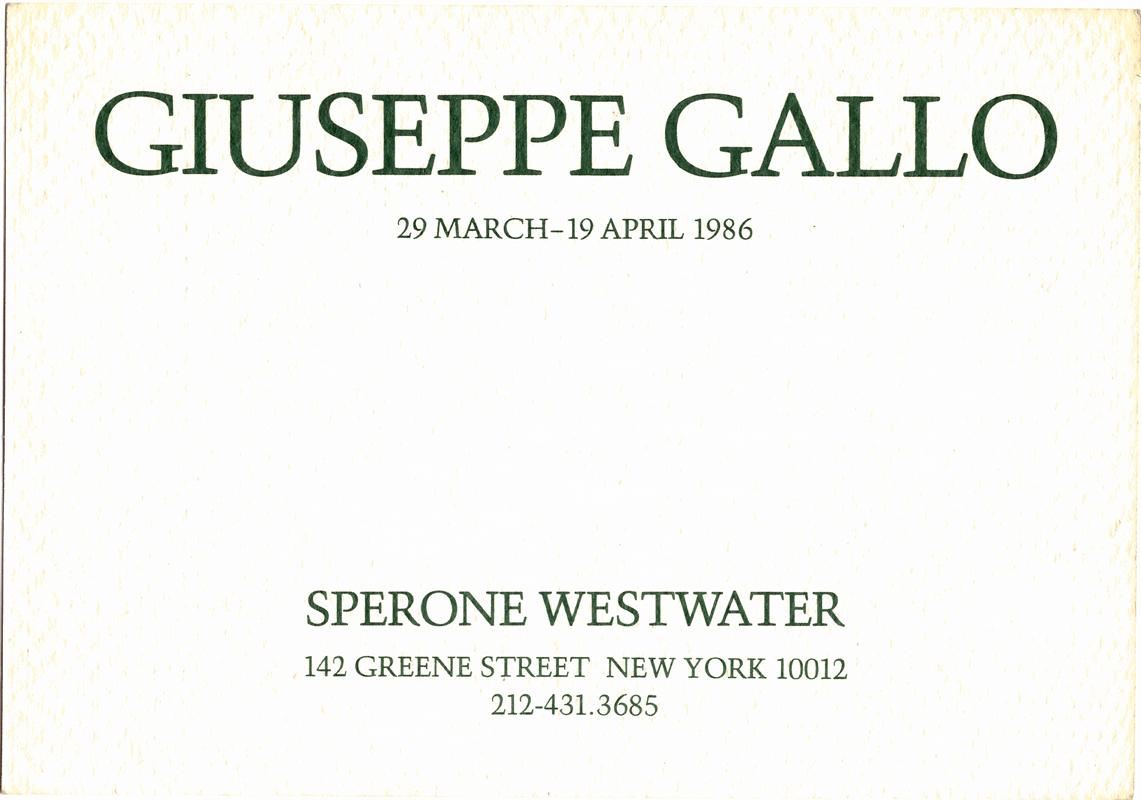Sperone 1986 NY1.