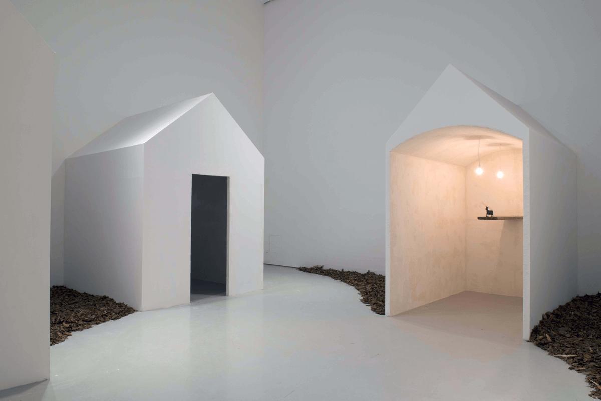 Exhibition view of <i>Fondazione Volume! Passages</i>. Musée d'art moderne et contemporain de Saint'Étienne Métropole. Ph. Yves Bresson