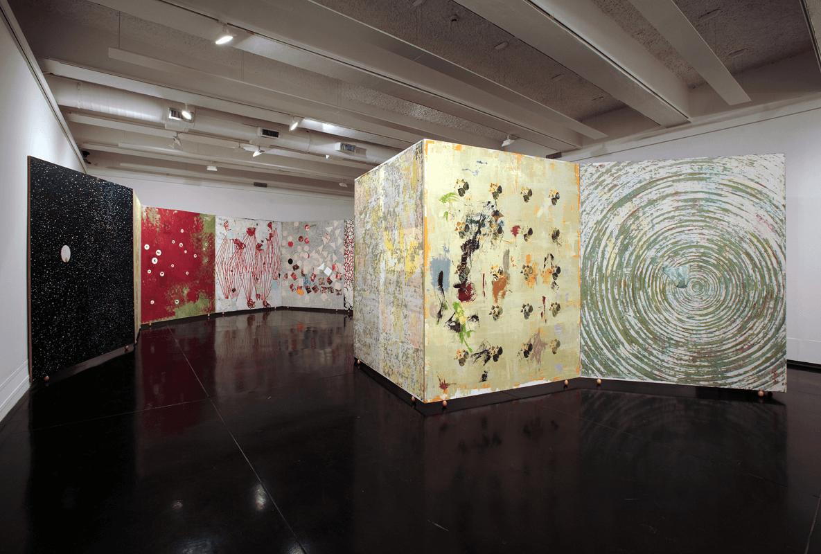 Le dita della mente, 1998-2000. olio su tela, 240 x 200 cm. Installazione di 12 elementi. Macro, Roma. foto di Schiavinotto.