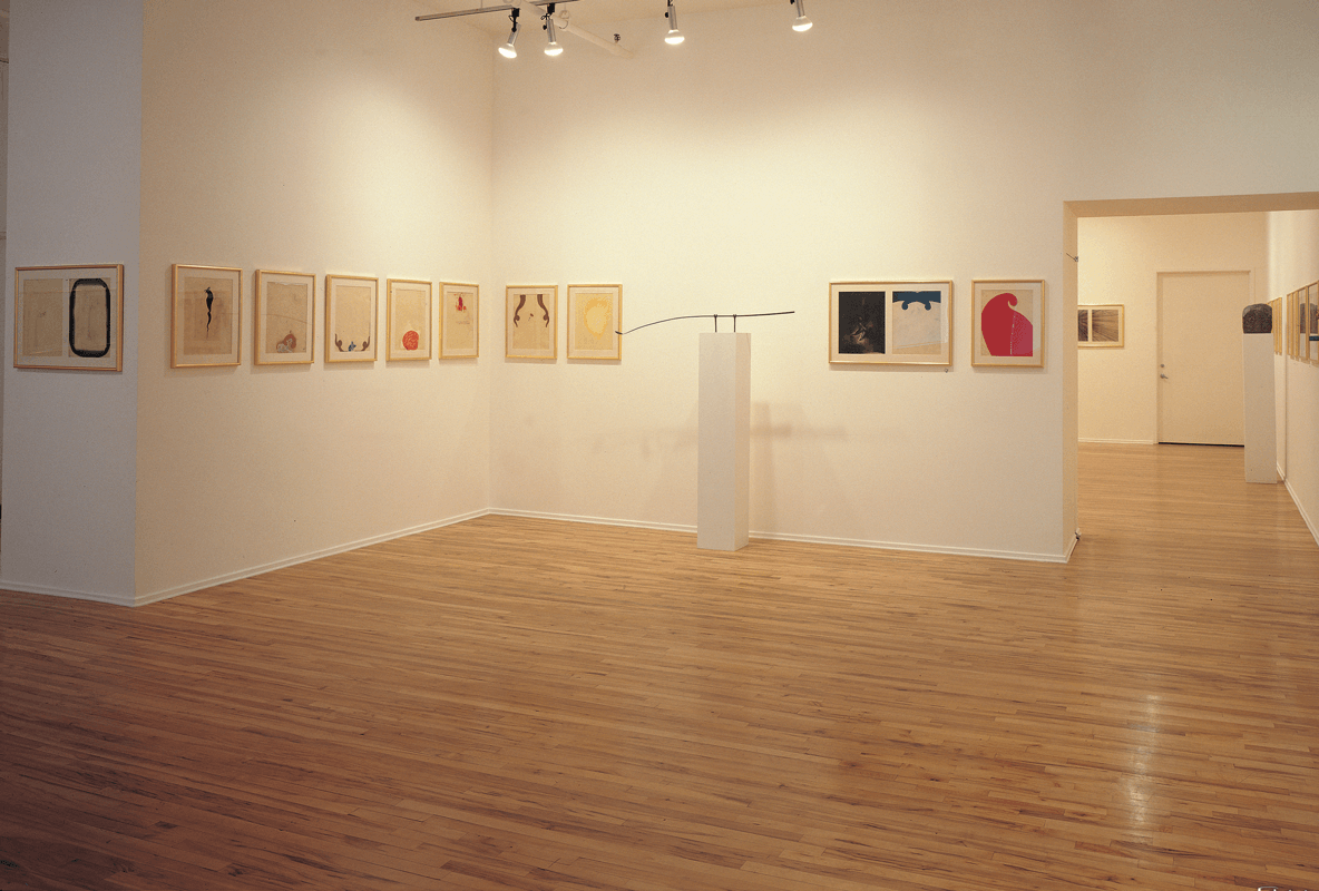 Veduta della mostra Works on paper and 9 sculptures, Sperone Westwater, New York, 1989. Courtesy Sperone Westwater.