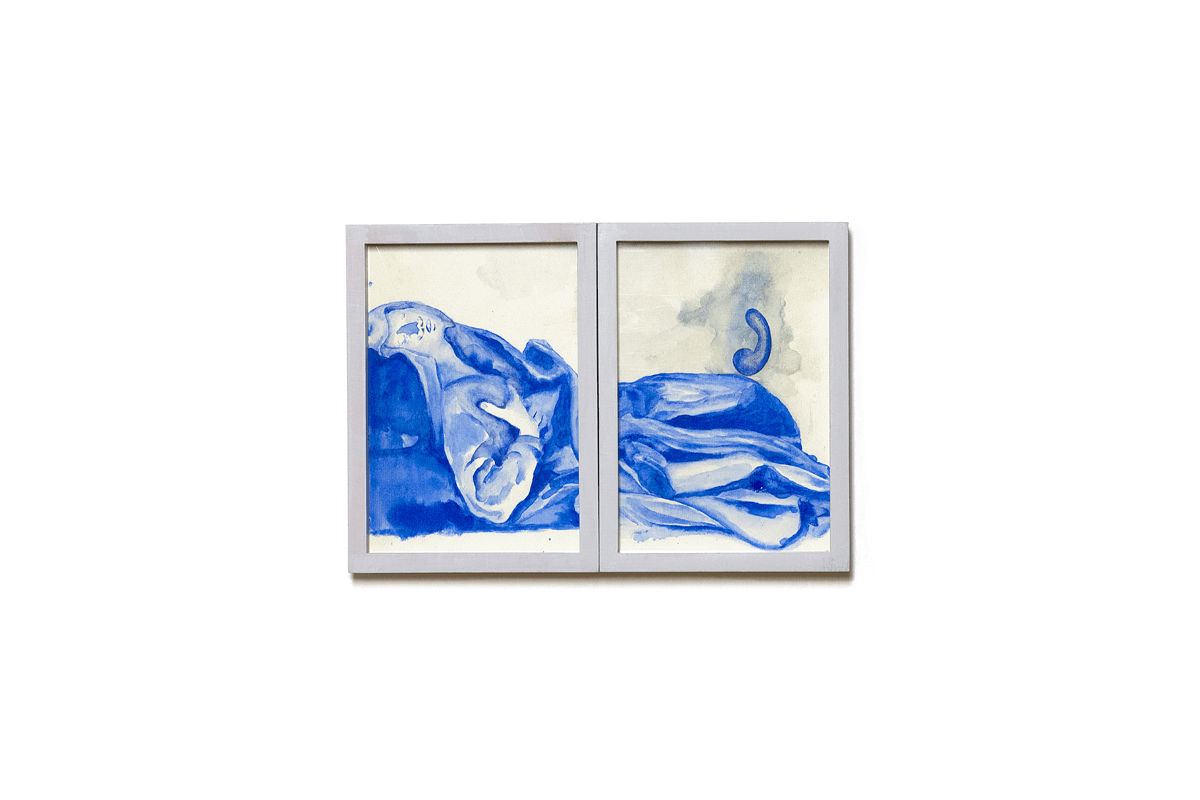 <i>Dialogo tra due gemelli III</i>, 2015. Mixed media on paper, 24 x 16,5 cm. Ph. Ottavio Celestino