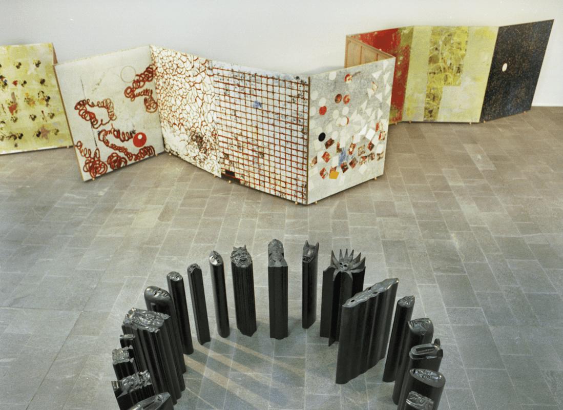 Veduta della mostra Giuseppe Gallo - All in, Kunsthalle Mannheim. Foto Celestino.