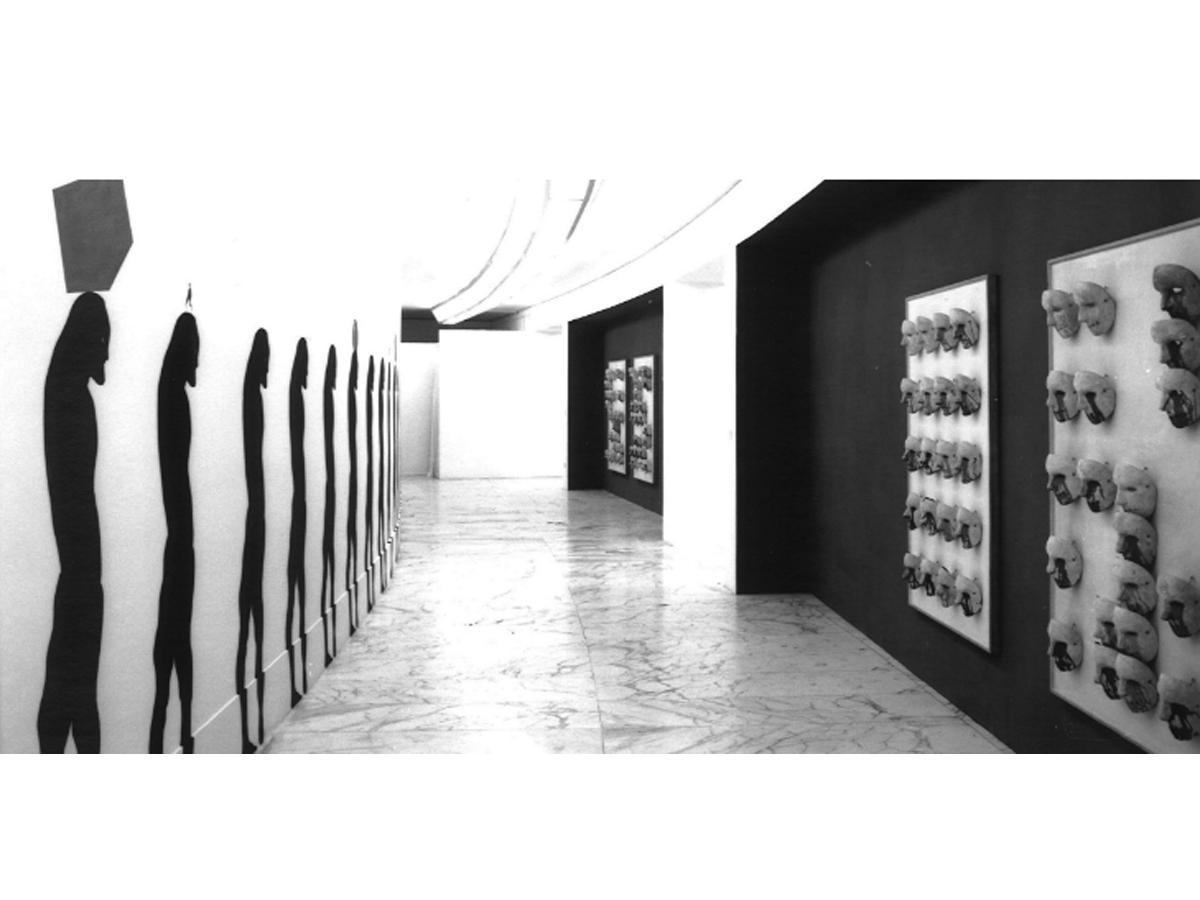 Veduta della mostra Gallo e Alfredo Pirri, Museo Laboratorio di Arte Contemporanea, Università degli Studi La Sapienza, Roma, 1993