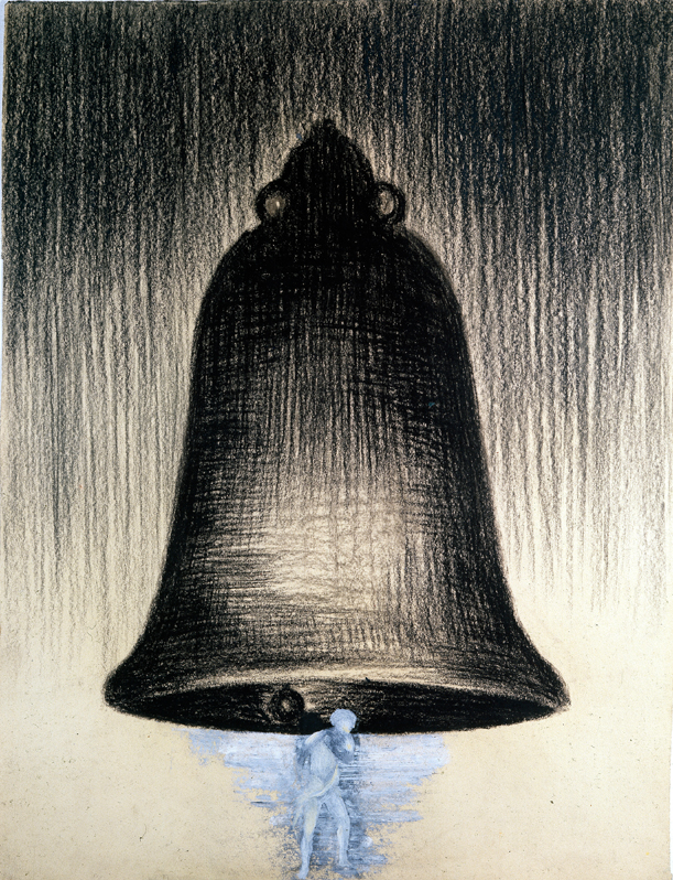 <i>Senza titolo</i>, 1988. Carboncino su carta, 47 x 37 cm